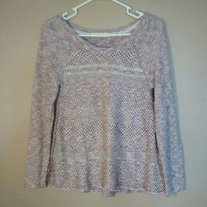 Rewind Small Pink Cream Sweater